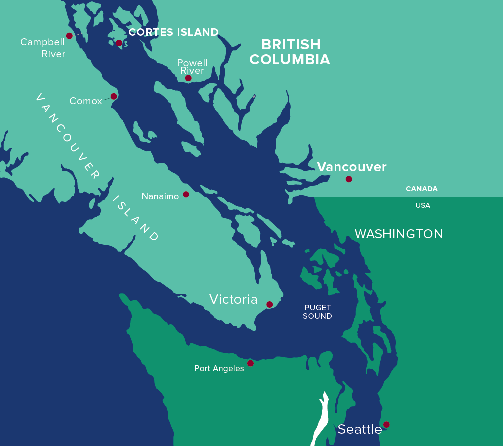 Hollyhock Cortes Island Map