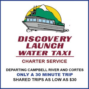 Discover Launch Water Taxi Campbell River ad
